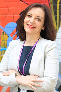 A portrait of Dr. Vicky Stergiopoulos